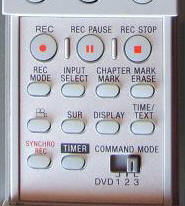 sony command mode switch